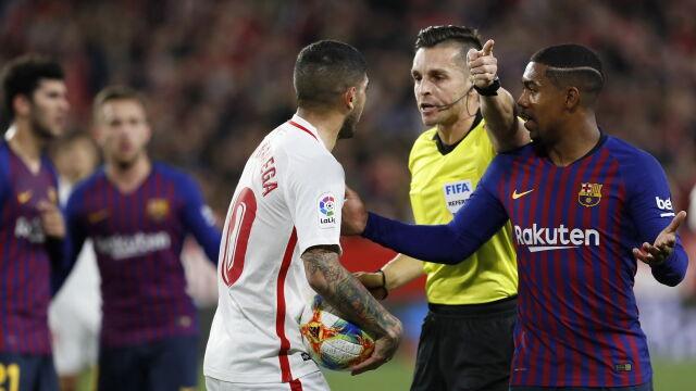 Sevilla - Barcelona 2:0 w pierwszym meczu 1/4 finału Pucharu Hiszpanii | Eurosport w TVN24