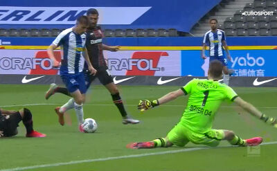 Skrót meczu Hertha - Bayer Leverkusen w 33. kolejce Bundesligi