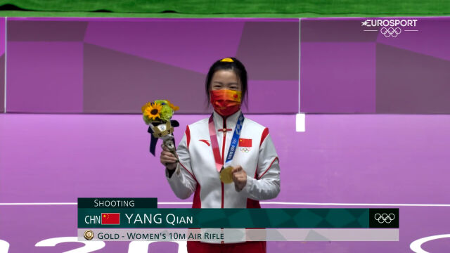 Tokio. Pierwsza ceremonia medalowa. Qian Yang odebrała złoto