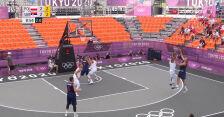 Tokio. Mocny początek meczu Polska – Serbia w koszykówce 3x3 mężczyzn