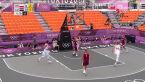 Tokio. Skrót meczu Polska – Łotwa w koszykówce 3x3