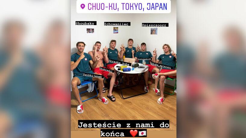 Koledzy z reprezentacji nie zapominają o pływakach zawróconych z Tokio