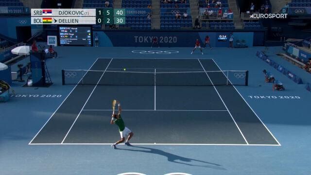 Tokio. Tenis. Djokovic awansował do drugiej rundy po dwóch wygranych setach
