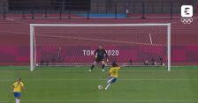 Tokio. Skrót meczu Chiny - Brazylia w piłce nożnej kobiet
