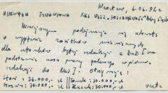 """W czerwcu 1982 roku RKS podjął uchwałę o wypłaceniu zaległych pensji działającej w podziemiu redakcji biuletynu """"Z dnia na dzień"""""""