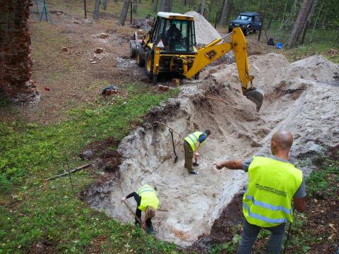 Prace archeologiczne w Łebie