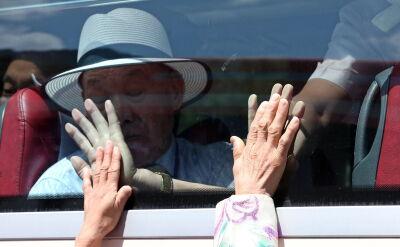 Pożegnania rozdzielonych krewnych z obu Korei