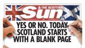 Szkockie wydania gazet starająsię być neutralne