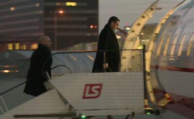 Premier Mateusz Morawiecki w drodze do Brukseli