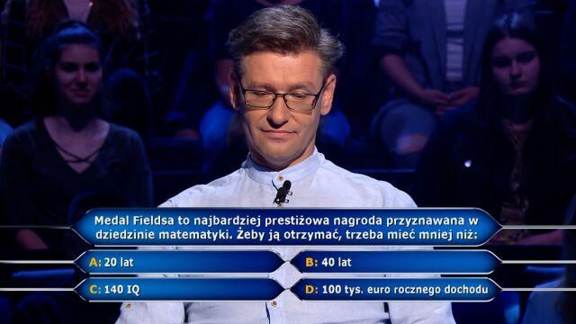 """Pytanie w """"Milionerach"""" o medal Fieldsa"""