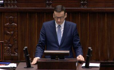 Premier Morawiecki w swoim expose przedstawił liczne obietnice