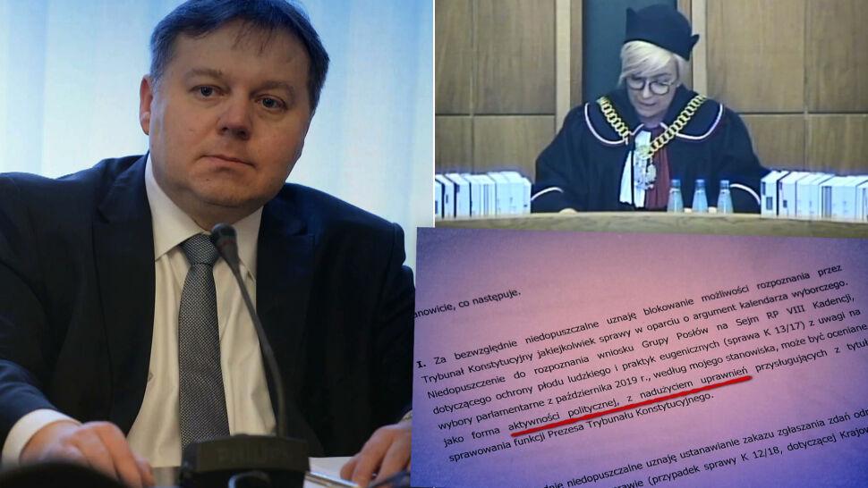 """""""To jest kwalifikowane bezprawie"""". Sędzia TK pisze do prezes Przyłębskiej i chce jej dymisji"""