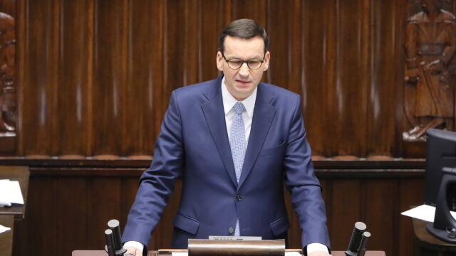 Premier w expose: zmieńmy Konstytucję tak, aby zagwarantować środki obywateli zgromadzone w PPK i IKE