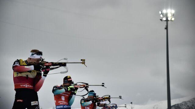 Biathloniści trenowali w niebezpiecznych mrozach. Na zawody ma się ocieplić
