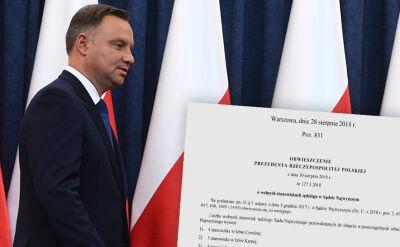 W Monitorze Polskim opublikowano obwieszczenie prezydenta o naborze do Sądu Najwyższego