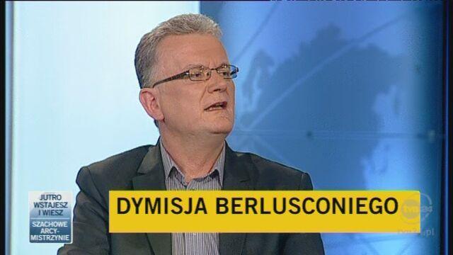 Komentarze o dymisji Berlusconiego