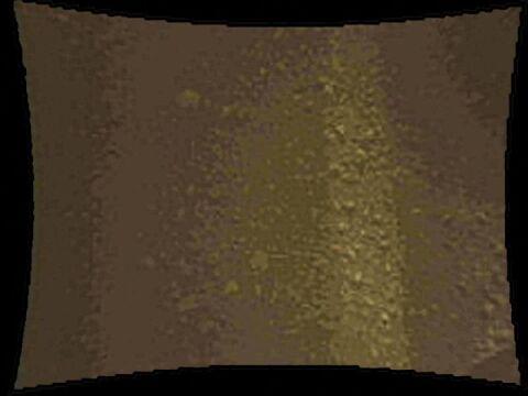 Powierzchnia Marsa sfotografowana przez kamerę łązika, celującą w dół, umieszczoną ok 70 cm od powierzchni gruntu.