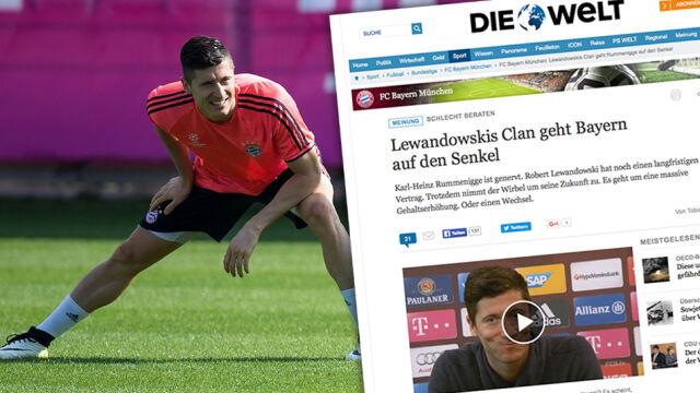 """""""Die Welt"""": Bayern ma dość pazerności Lewandowskiego"""