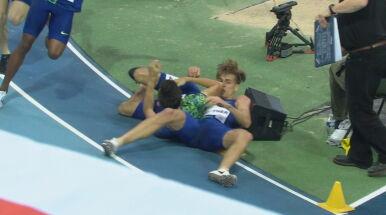Kolizja na ostatnich metrach, Kszczot stracił szansę na wygraną.