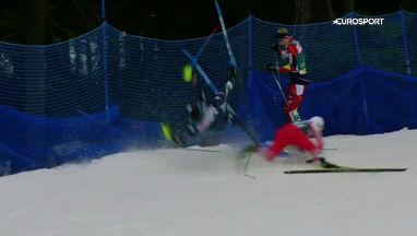 Kraksa narciarzy z udziałem Polaka. Jak brutalny faul w piłce nożnej