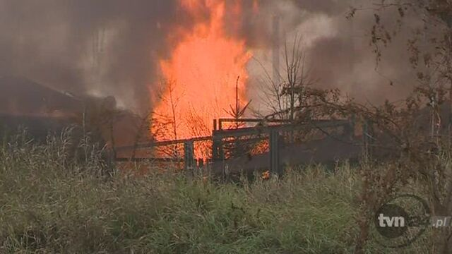 Gaszenie pożaru (TVN24)