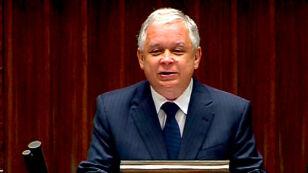 Lech Kaczyński rozpoczyna orędzie