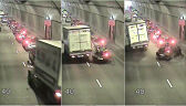 W tunelu pod Martwą Wisłą samochód dostawczy z impetem uderzył w osobowy