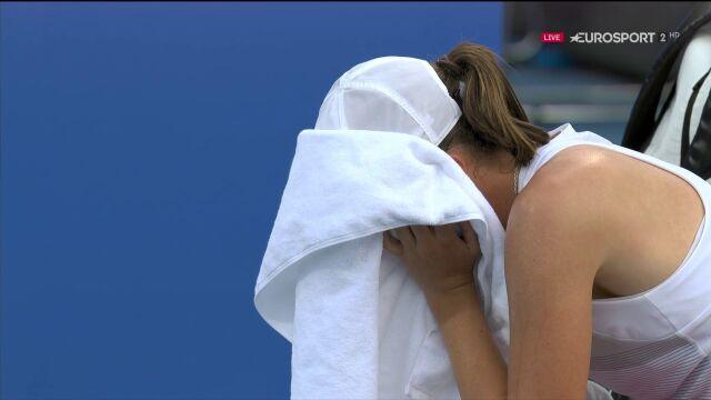 Łzy na pożegnanie turnieju. Świątek nie wytrzymała