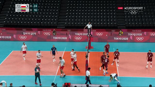 Tokio. Polska wygrała pierwszego seta w starciu z Wenezuelą w turnieju siatkarzy