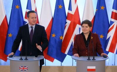 Cameron w Warszawie. Szydło: chcemy, aby Wielka Brytania pozostała w UE