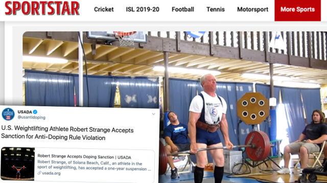 83-letni sztangista zdyskwalifikowany za doping