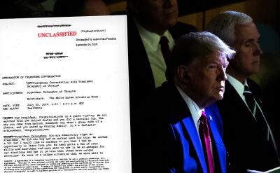 Biały Dom publikuje zapis rozmowy Trump - Zełenski