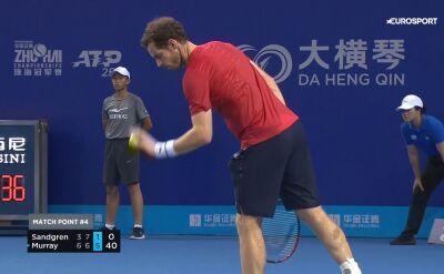 Murray pokonał Sandgrena w 1. rundzie turnieju w Zhuhai