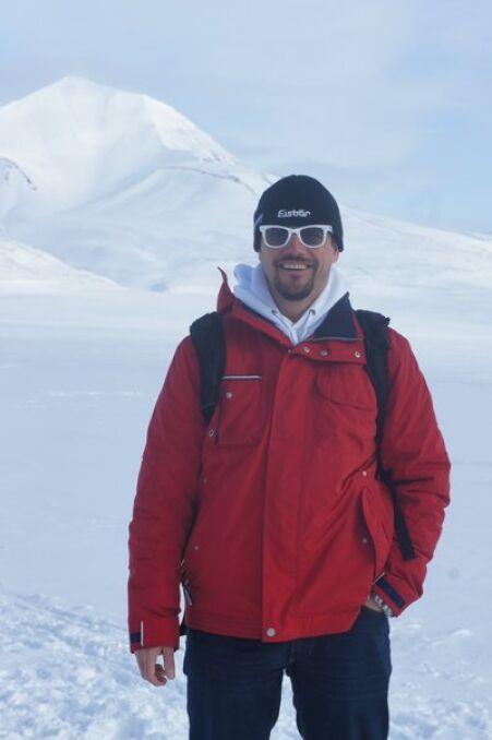 Rafał Trzaskowski na biegunie polarnym.