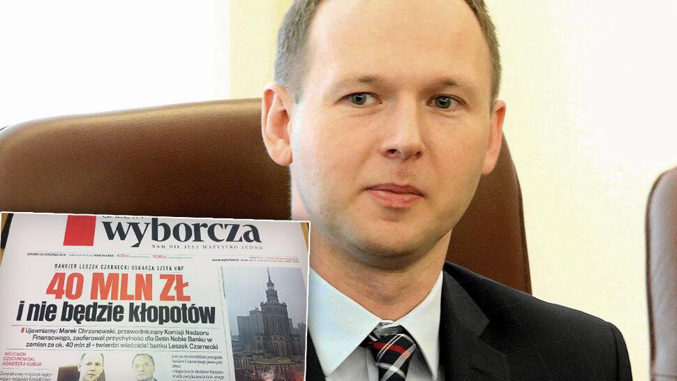 """""""Gazeta Wyborcza"""". Bankier oskarża szefa KNF o złożenie propozycji korupcyjnej"""