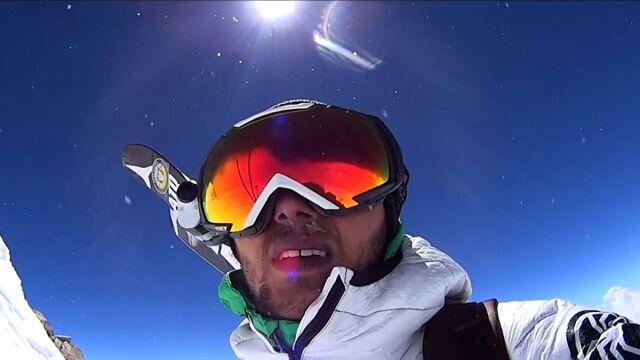 Andrzej Bargiel wspiął się na Manaslu i zjechał z góry na nartach w rekordowo szybkim czasie