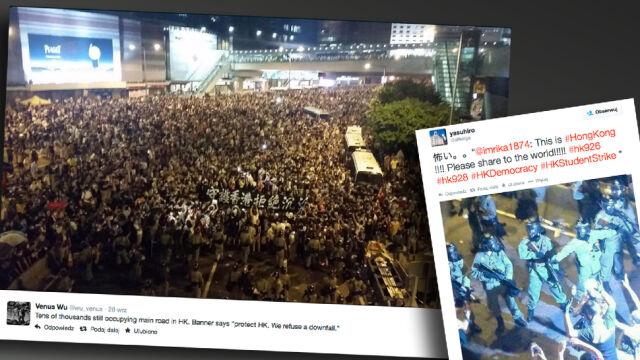 """#Hongkong w sieci. """"Pokażcie to światu!"""""""