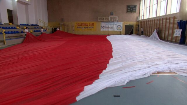 The largest flag in the world for the National Flag Day in Poland