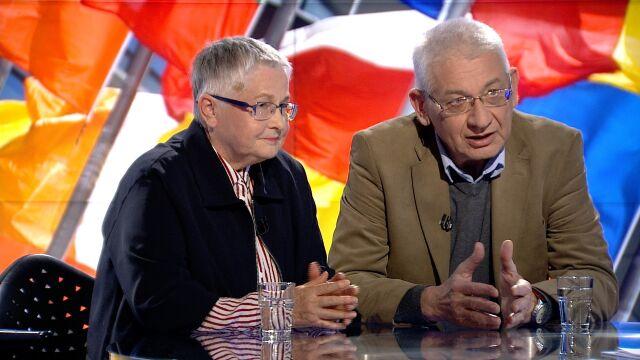 "Ludwik Dorn i Barbara Labuda w ""Faktach po Faktach"""