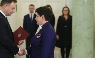 Dymisja Beaty Szydło przyjęta