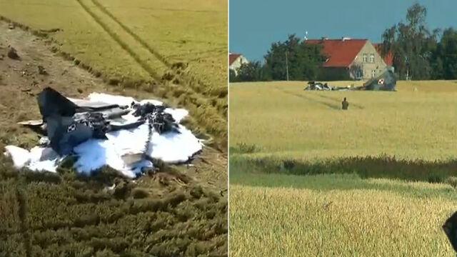 MiG-29 rozbił się pod Pasłękiem. Pilot nie przeżył