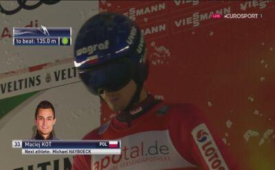 Maciej Kot w kwalifikacjach w Klingenthal