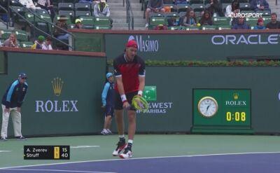 Struff wyeliminował Zvereva w trzeciej rundzie Indian Wells