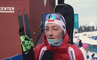 Monika Hojnisz po biegu indywidualnym na MŚ