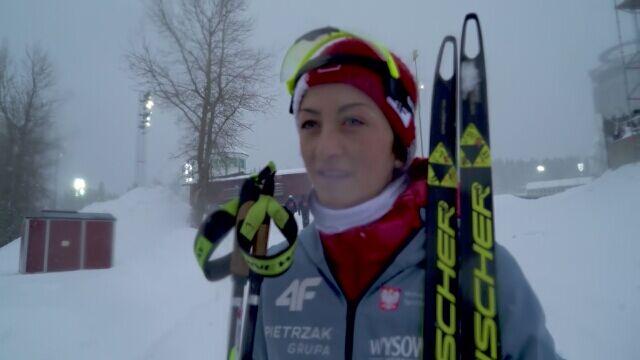 Monika Hojnisz po biegu masowym na MŚ