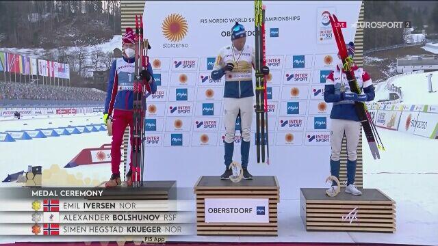 Emil Iversen mistrzem świata w biegu na 50 km po dyskwalifikacji Klaebo