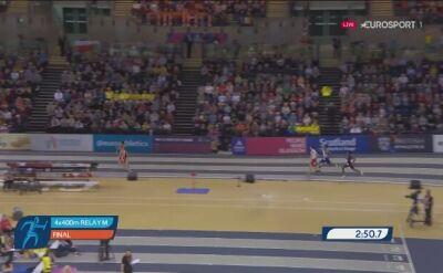 Polacy na 4. miejscu w sztafecie 4x400 metrów