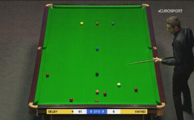 Udane podejście Marka Selby'ego w meczu z Hosseinem Vafaeiem w 3. rundzie UK Championship