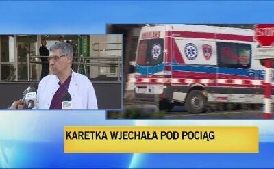 Lekarze o stanie zdrowia kierowcy karetki