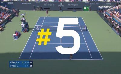 Najlepsze zagrania 10. dnia US Open